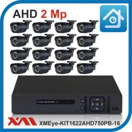 Комплект видеонаблюдения на 16 камер XMEye-KIT1622AHD750PB-16.