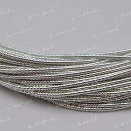 Канитель жесткая Silver 1,25 мм 5 гр (Индия)