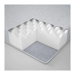 ЙОМНА Пенополиуретановый матрас, светло-серый 90 х 200 см