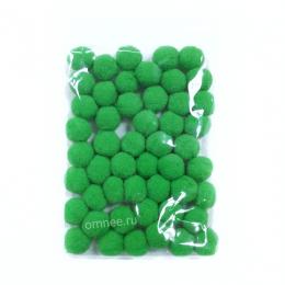 Помпоны 15 мм, уп. 50шт. цв.: зелёный