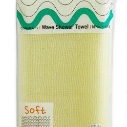 SB CLEAN&BEAUTY Мочалка для душа (28х95) Wave Shower Towel 1шт