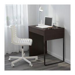 МИККЕ Письменный стол, черно-коричневый 73 х 50 х 75 см