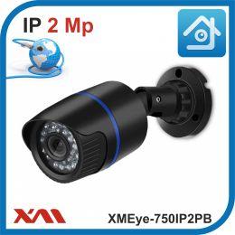 XMEye-750IP2PB-2,8.(Пластик/Черная). 1080P. 2Mpx. Камера видеонаблюдения IP.
