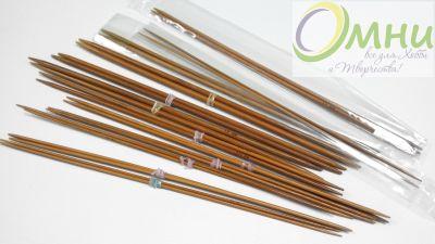 Прямые бамбуковые обоюдоострые спицы (пара), 25 см №2,5