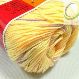 Пряжа Кашемировая, цв.: св. желтый с фиолетовым 37 меланж
