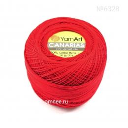 YarnArt canarias 6328 (красный), 100% мерсеризованный хлопок, 20гр., 203 м.