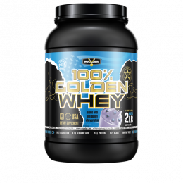 MAXLER 100% Golden whey, банка 908гр. Blueberry maffin