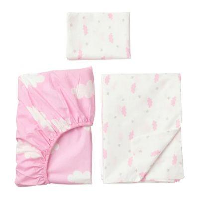 ХИММЕЛЬСК Комплект постельного белья, 3 предм, розовый 110 х 125/ 35 х 55 см