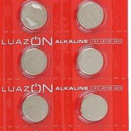 Батарейка алкалиновая LuazON, LR1130, AG10, блистер