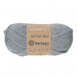 kartopu Malange Wool 1009 серый, 20% шерсть, 80 % акрил, 100 гр. 170 м.