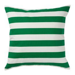СОММАР 2019 Чехол на подушку, белый, зеленый/желтый в полоску 50 х 50 см