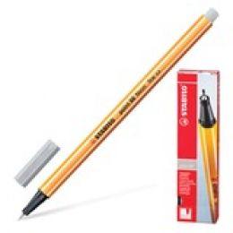 Ручка капилярная серая Stabilo88