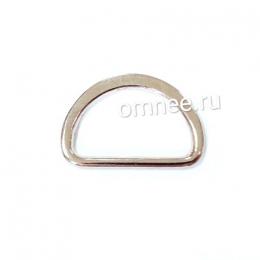 Полукольцо металлическое, 2 см, цв.: никель