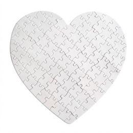Пазл картонный сердце 19х19см (75 элементов)