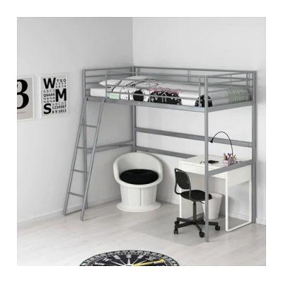 СВЭРТА Каркас кровати-чердака, серебристый 90 х 200 см
