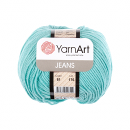YarnArt Jeans 81 (бирюза), 55%хлопок, 45% акрил, 50 гр.160 м