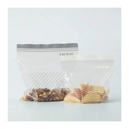 ИСТАД Пакет пластиковый, серый/белый, 50 шт