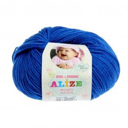 Alize BABY WOOL 141 (василёк), 40% шерсть, 40 % акрил, 20% бамбук, 50 гр. 175 м.