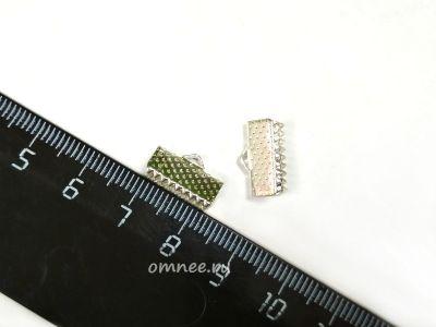 Зажим для лент, 13 мм, цв.:серебро