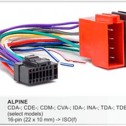 Разъемы магнитол Alpine CARAV 15-101