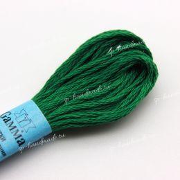Мулине хлопок Gamma темно-зеленый №3158 8 м
