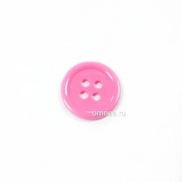 Пуговица классическая 12 мм, цв.: розовый, арт. 1375701, шт.