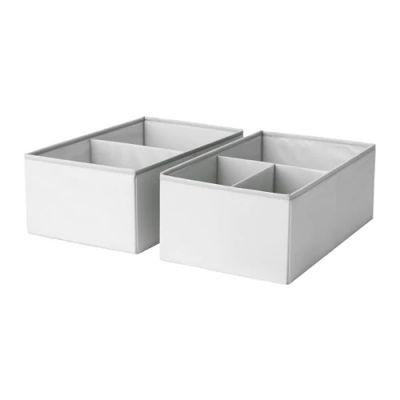 СЛЭКТИНГ Ящик с отделениями, серый, бирюзовый 25 х 41 х 16