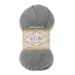 Alize Baby best 344 (серый), 100гр. 240м. 90%акрил, 10% бамбук