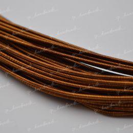 Канитель жесткая Antique Brown 1,25 мм 5 гр (Индия)