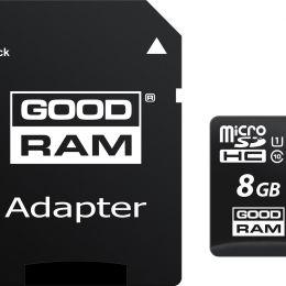 Карта памяти GoodPower microSDHC 8GB Class10 + adapter