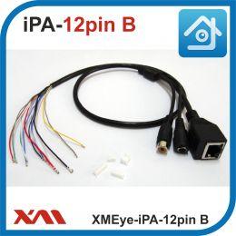 XMEye-iPA-12pin.(Внутренний/Черный). Кабель для IP камер видеонаблюдения и плат PCB.