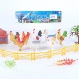 Птицы домашние, 8шт/набор, аксес., в пакете 20х9х7см (180шт/ящ)