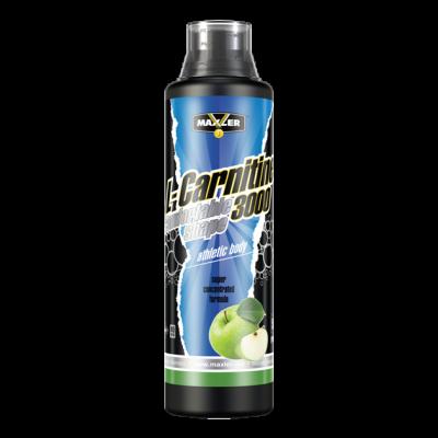 MAXLER, L-Carnitine 3000, Бутылка 500мл. Green apple
