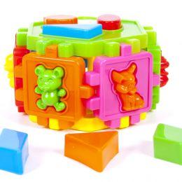 Сортер- шестигранник з фігурами у вигляді тварин