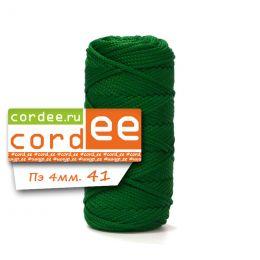 Шнур Cordee, ПЭ4 мм,100м, цв.:41 т.зелёный