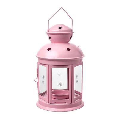 РОТЕРА Фонарь для греющей свечи, д/дома/улицы, светло-розовый