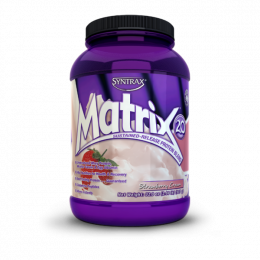 SYNTRAX Matrix 2.0 protein, банка 907г. Strawberry cream