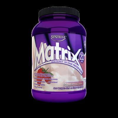 SYNTRAX Matrix 2.0 protein, банка 907г. Strawberry cream