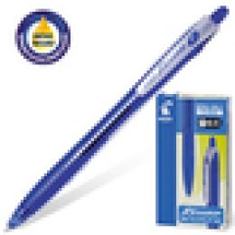 """Ручка шариковая """"Pilot"""" автомат. с рез.упором 0.32 мм., синяя"""