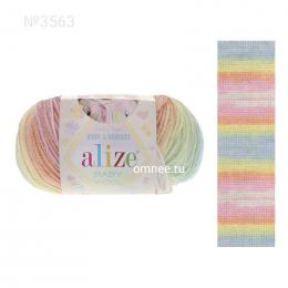 Alize BABY WOOL batik 3563, 40% шерсть, 40 % акрил, 20% бамбук, 50 гр. 175 м.