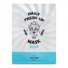 VILLAGE 11 FACTORY Успокаивающая тканевая маска с экстрактом чайного дерева Daily Fresh up Mask Tea Tree