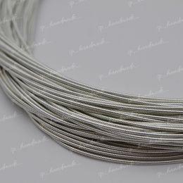 Канитель жесткая Silver 1 мм 5 гр (Индия)