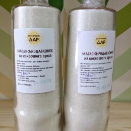"""Сыродавленое масло из кокосового ореха """"Солнечный дар"""" 500 мл."""
