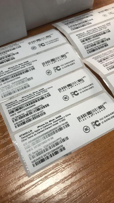 Sticker film | Печать наклейки с IMEI