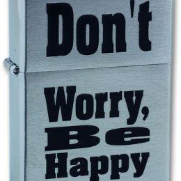 Зажигалка Zippo 200 Dont Worry Be Happy