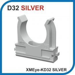 XMEye-KD32 Silver. Клипса серая, в упаковке 25 штук.