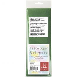 Бумага тишью Werola, 50*75см, 5 листов, 17г/м2, зеленая, однотонная, пакет, европодвес
