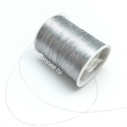 Нить металлик (люрекс) 100 м., цв.: серебро
