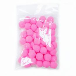 Помпоны 15 мм, уп. 50шт. цв.: розовый