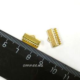 Зажимы для лент, 13 мм, цв.: золото